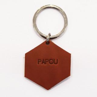 PORTE-CLES EN CUIR PAPOU