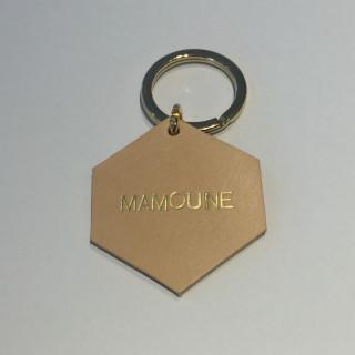 PORTE-CLES EN CUIR MAMOUNE DORE