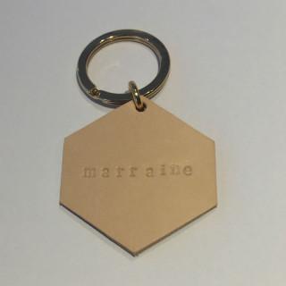 PORTE-CLES EN CUIR MARRAINE