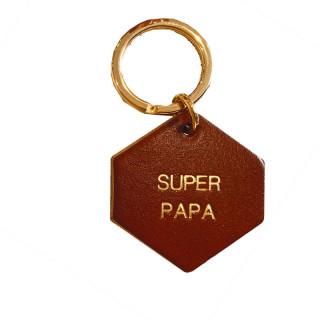 PORTE-CLES EN CUIR CAMEL SUPER PAPA
