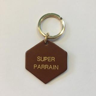 PORTE-CLES EN CUIR SUPER PARRAIN