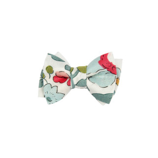BARRETTE MINI NOEUD LIBERTY BETSY GRIS