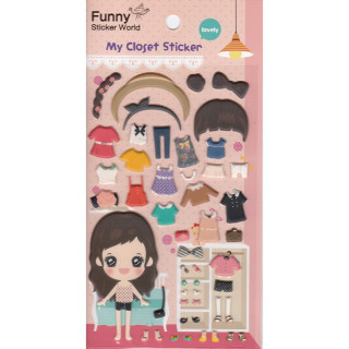 STICKERS FILLE A HABILLER