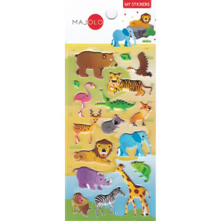 STICKERS 3D ANIMAUX LION