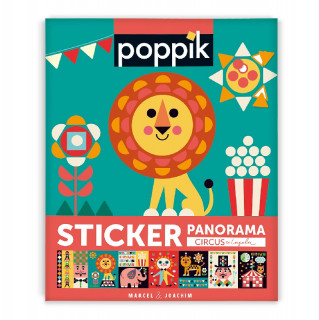 POSTER FRISE EN STICKERS CIRCUS