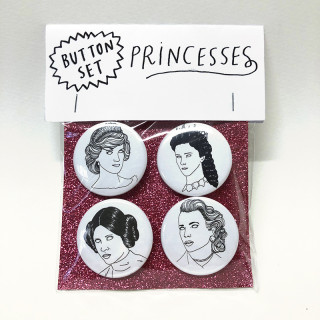 4 BADGES PRINCESSES INOUBLIABLES