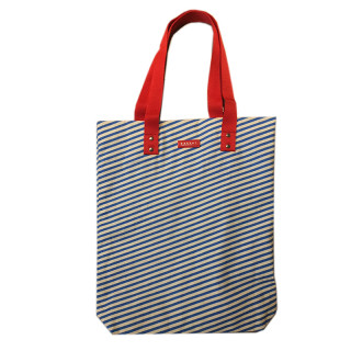 TOTE BAG RAYURES BLEUES