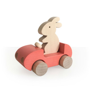 VOITURE BUNNY ROUGE ROSE