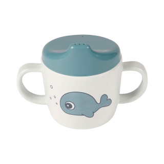 TASSE A  ANSES ANIMAUX MARINS BLEUE