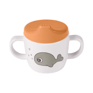 TASSE A  ANSES ANIMAUX MARINS MOUTARDE