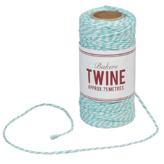 BAKERS TWINE TURQUOISE ET BLANC