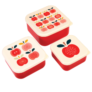 SET DE 3 BOITES LUNCH BOX POMME