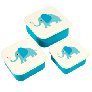 SET DE 3 BOITES LUNCH BOX ELEPHANT