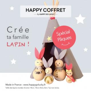 HAPPY COFFRET CREE TA FAMILLE LAPIN