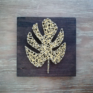 KIT CREATIF STRINGART MONSTERA OR