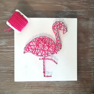 KIT CREATIF STRINGART FLAMANT ROSE