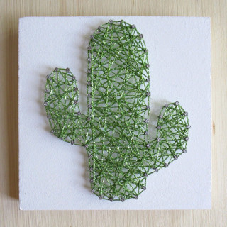 KIT CREATIF STRINGART CACTUS PAILLETTE