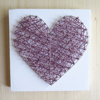 KIT CREATIF STRINGART COEUR PAILLETTE