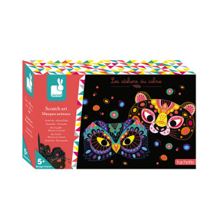 COFFRET SCRATCH ART MASQUES ANIMAUX
