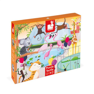 PUZZLE TACTILE GEANT UNE JOURNEE AU ZOO
