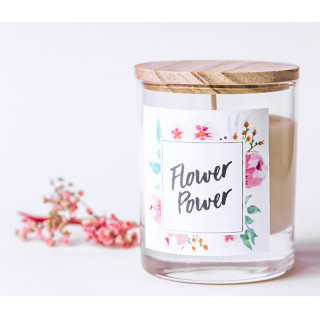 KIT DIY FABRIQUE TA BOUGIE FLOWER POWER