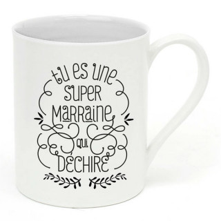 MUG CERAMIQUE SUPER MARRAINE