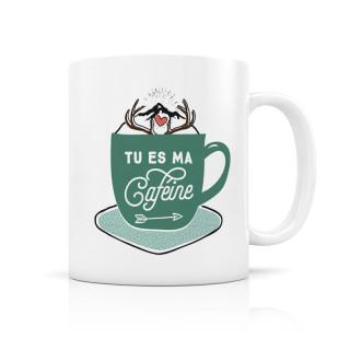 MUG CERAMIQUE TU ES MA CAFEINE