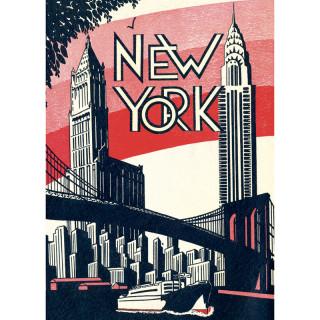 POSTER AFFICHE CAVALLINI NEW YORK