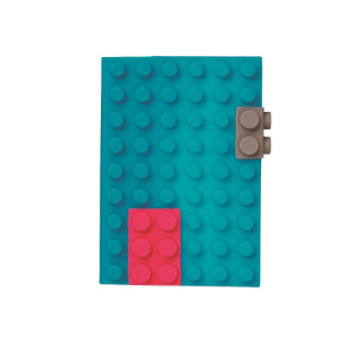 CARNET DE NOTE SILICONE TURQUOISE