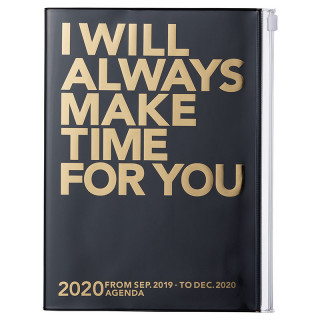 AGENDA A5  I WILL ALWAYS MAKE TIME FOR YOU  NOIR OR