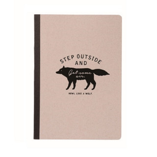 CAHIER A6  WOLF  GRIS