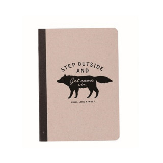 CAHIER A5  WOLF  GRIS