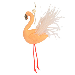 DECORATION DE NOEL : FLAMANT ROSE