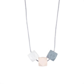 COLLIER EN SILICONE ALIMENTAIRE ROSE (Liste PERNOUD)