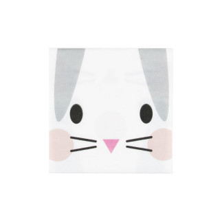 20 SERVIETTES MINI LAPIN