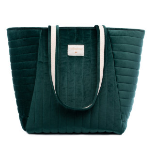 GRAND SAC VELOURS VERT JUNGLE