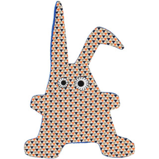 DOUDOU TOUMOU RABBIT TRIANGLE INDIGO ORANGE
