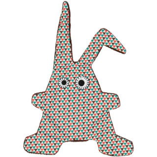 DOUDOU TOUMOU RABBIT TRIANGLE TURQUOISE MARRON