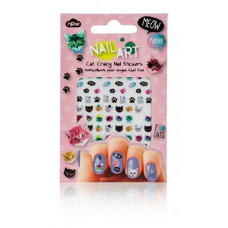 MINI STICKERS D'ONGLES CHAT