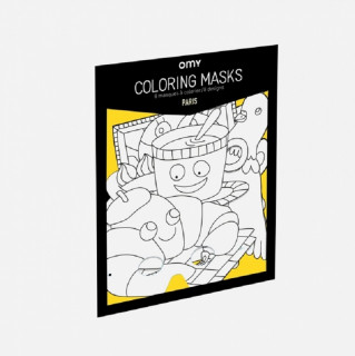 8 MASQUES A COLORIER PARIS