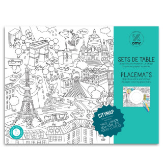 SETS DE TABLE A COLORIER ATLAS