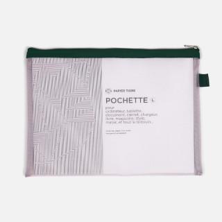 GRANDE POCHETTE MESH ROSE / VERTE