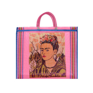 SAC MESH FRIDA KAHLO ROSE
