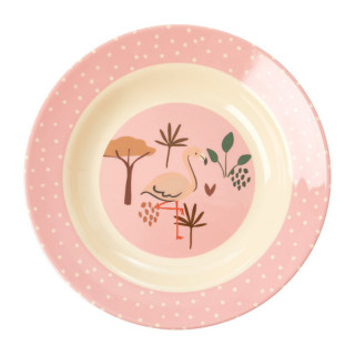 ASSIETTE JUNGLE FLAMANT