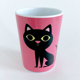 VERRE CHAT ROSE