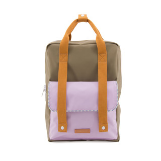 GRAND SAC A DOS OLIVE / LILAS