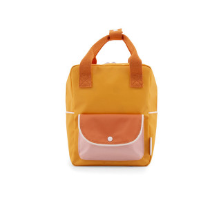 PETIT SAC A DOS POCHE JAUNE / ORANGE / ROSE