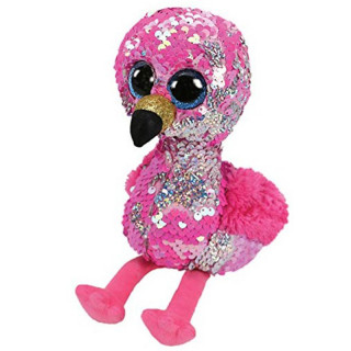 PINKY LE FLAMANT ROSE A SEQUINS